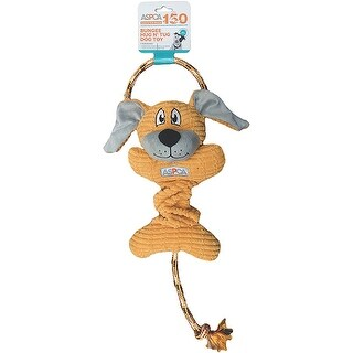 Orange - ASPCA Bungee Hug N' Tug Dog Toy