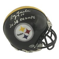 Roy Gerala Autographed Pittsburgh Steelers Mini Helmet 3x SB Champs SGC