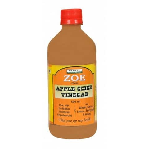 Zoe Apple Cider - Vinegar - Case of 6 - 17 Fl oz.