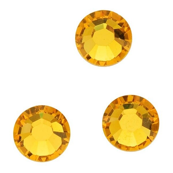 Swarovski Elements Crystal, Round Flatback Rhinestone Hotfix SS12 3mm, 50 Pieces, Sunflower