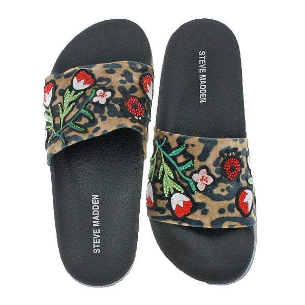f5ff345448 Shop Steve Madden Womens Patches Slide Sandals - Free Shipping On ...