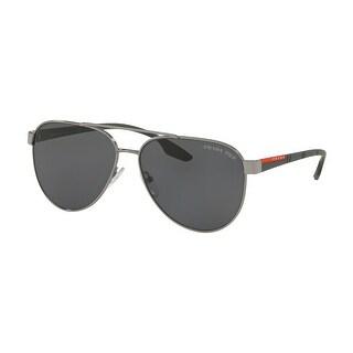 Prada Linea Rossa PS 54TS 5AV5Z1 61 Gunmetal Man Pilot Sunglasses