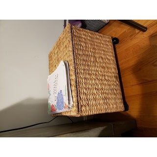 Porch & Den Westphalian Seagrass Wicker Storage Filing Cabinet