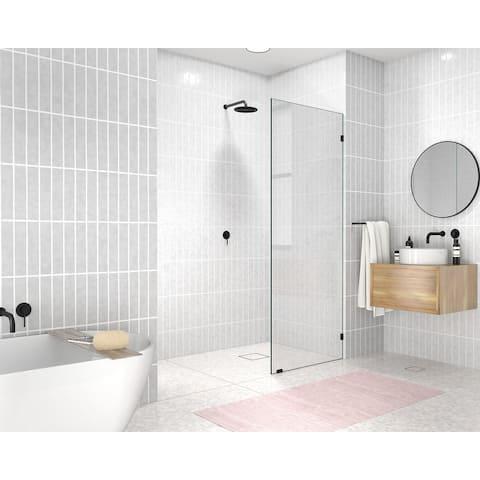 "Glass Warehouse 78"" x 29.5"" Frameless Shower Door - Single Fixed Panel"