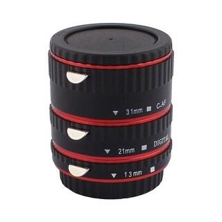 Unique Bargains DSLR SLR Camera Lens Mount 3 Macro Extension Tube Ring Set Black Red