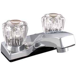 LDR 012 4155CP-WS Dual Acrylic Handle Non-metallic Lavatory Faucet, Chrome