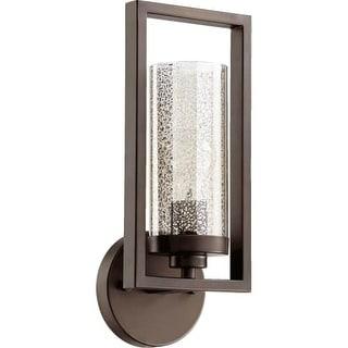Quorum International 553-1 Julian Single Light Wall Sconce with Mercury Glass Shade