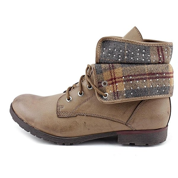ROCK & CANDY Womens Spraypaint-T Closed Toe Ankle Fashion Boots