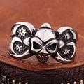 Vienna Jewelry Mini Stainless Steel Skull Ring - Thumbnail 2