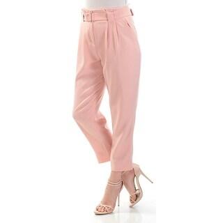 Catherine Malandrino NEW Pink Women Size 6 Pleated Slim Leg Dress Pants