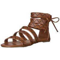 Qupid Womens Jamilla-13 Open Toe Casual Strappy Sandals