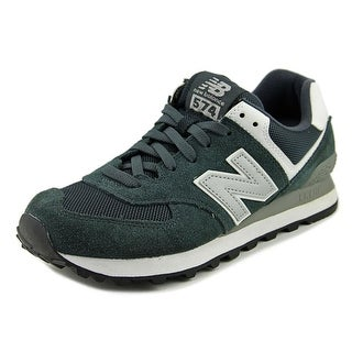 New Balance ML574 Men   Suede Gray Fashion Sneakers