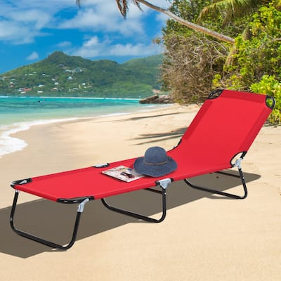 Outsunny 3-Position Adjustable Backrest Chaise Chair Lounger with Lightweight Frame Great for Pool or Sun Bathing