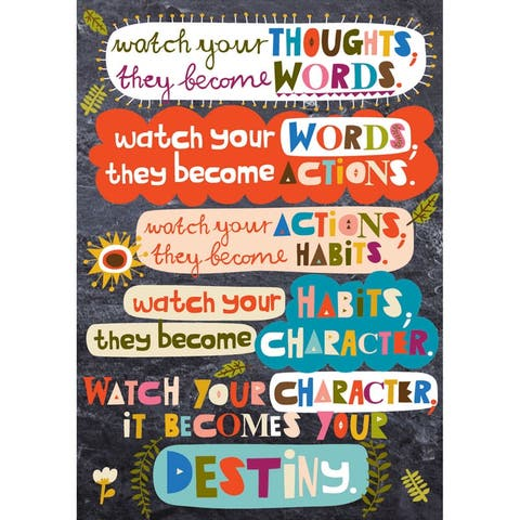 Scholastic watch your thoughts pop chart 565387