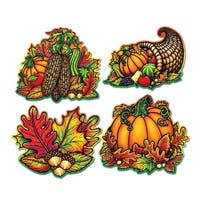 "Club Pack of 48 Double Sided Autumn Fall Splendor Cutout Decorations 15.75"" - Orange"
