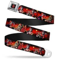 Harley Quinn Diamond Full Color Black Red Harley Quinn 4 New 52 Cover Poses Seatbelt Belt