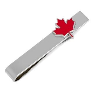 Maple Leaf Tie Bar - Silver