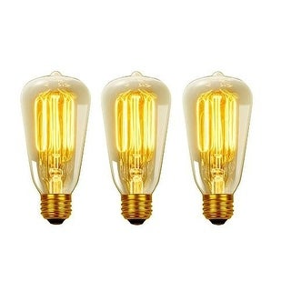 Globe Electric 31321 Pack of (3) 60 Watt Dimmable S60 Medium (E26) Incandescent Light Bulb