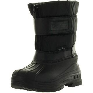 Static Kids Boys And Girls Bhd-11 Cute Waterproof Winter Kids Snow Boots Adjustable Closure - Black - 9 m us toddler
