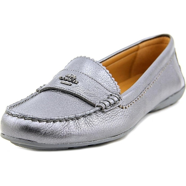 Coach Womens Odette Leather Almond Toe Loafers