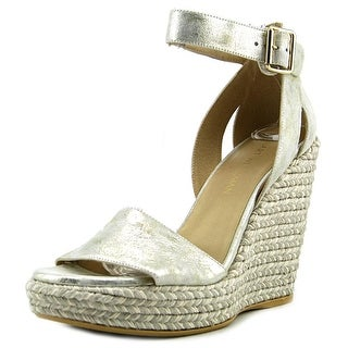 Stuart Weitzman Mostly Open Toe Synthetic Wedge Sandal