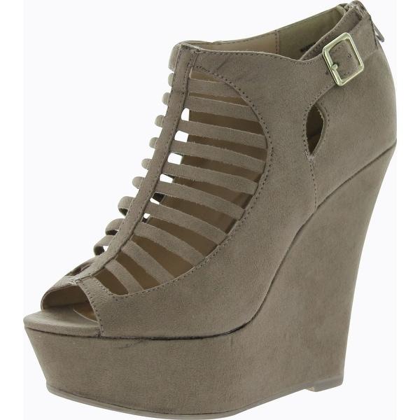 Madden Girl Womens Warped Wedge Sandals