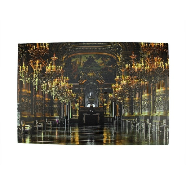 "LED Lighted Famous Paris Opera House France Grand Foyer Canvas Wall Art 15.75"" x 23.5"""