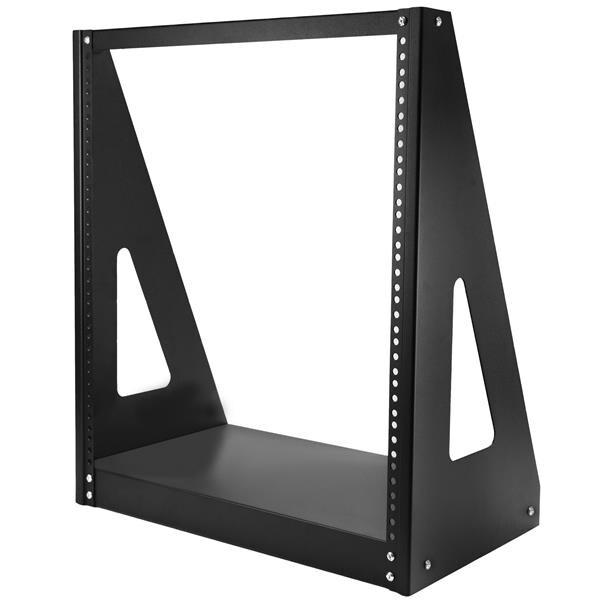 Startech 2Postrack12 12U Floor/Desktop Heavy-Duty 2-Post Rack Frame, Black
