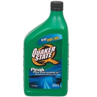 Quaker State 550024137 Peak Performance SAE HD-30 Motor Oil, 1 Quart