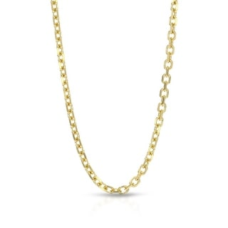 Mcs Jewelry Inc  14 KARAT YELLOW GOLD ROLO CABLE CHAIN NECKLACE (1.8MM)