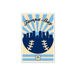 Tampa Bay - Vintage MLB - 16x24 Gallery Wrapped Canvas Wall Art