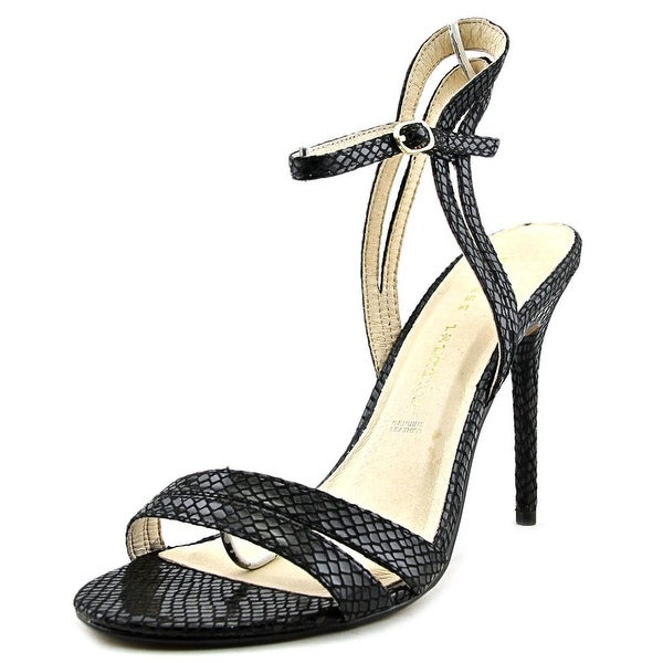 Chinese Laundry Lilliana Women Open Toe Canvas Black Sandals