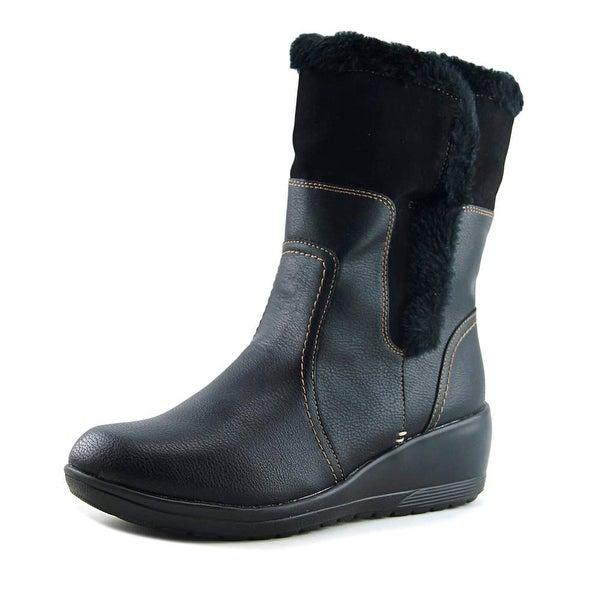 Softspots Corby Women Round Toe Synthetic Black Mid Calf Boot
