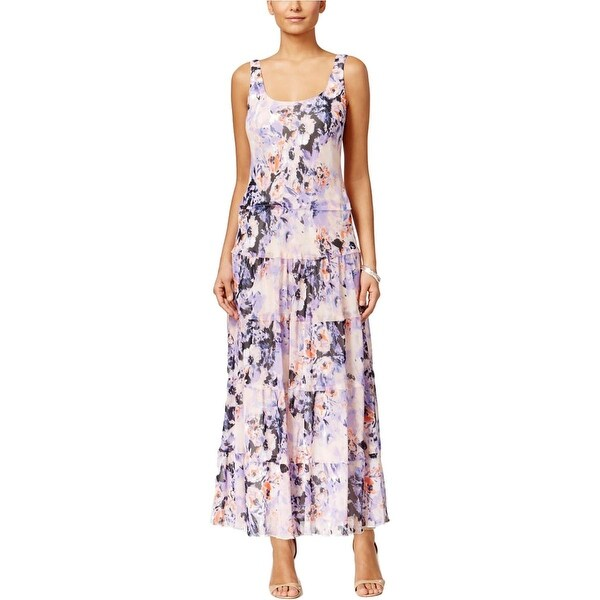 Nine West Womens Maxi Dress Printed Sleeveless