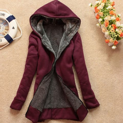 Thicken Large Size Loose Hooded And Velvet Cotton Top