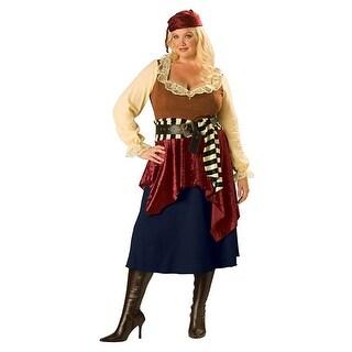 Buccaneer Beauty Women's Costume, Plus Sizes - Blue