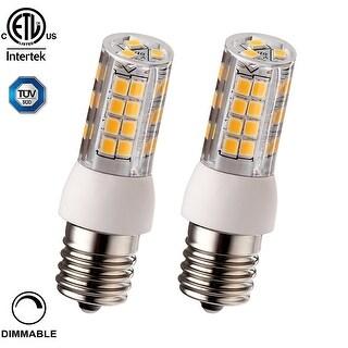 1 PACK/2 PACK 3.5W (40W Equiv.) Dimmable E17 LED Light Bulb, 400lm, 2700K Soft White