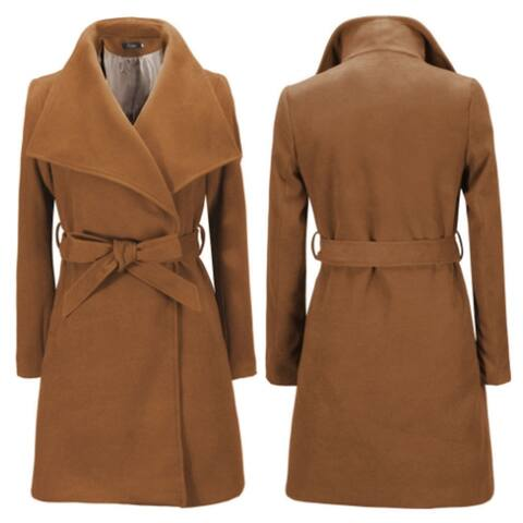 Women's Woolen Coat Slim Long