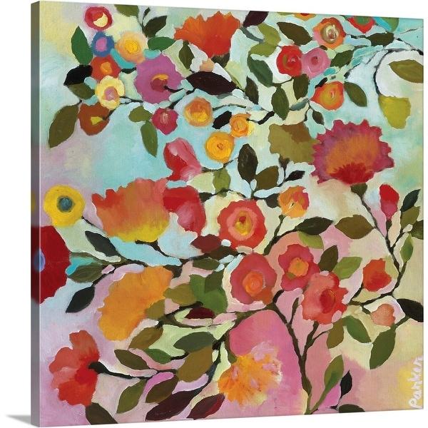 """Rose Trellis"" Canvas Wall Art"