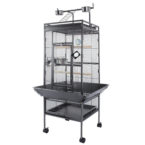 Shop Fur Family Grey Metal Deluxe Large Bird Cage Free Shipping