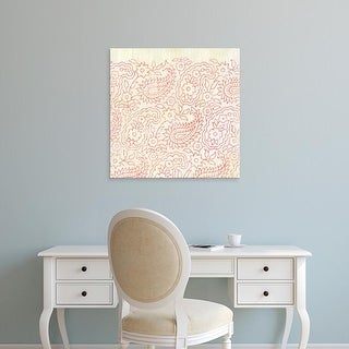 Easy Art Prints June Erica Vess's 'Weathered Patterns in Red XI' Premium Canvas Art