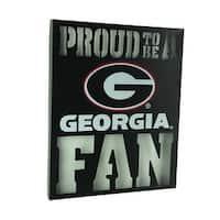 Proud To Be A Georgia Fan Cutout Metal Wall Sign - Black