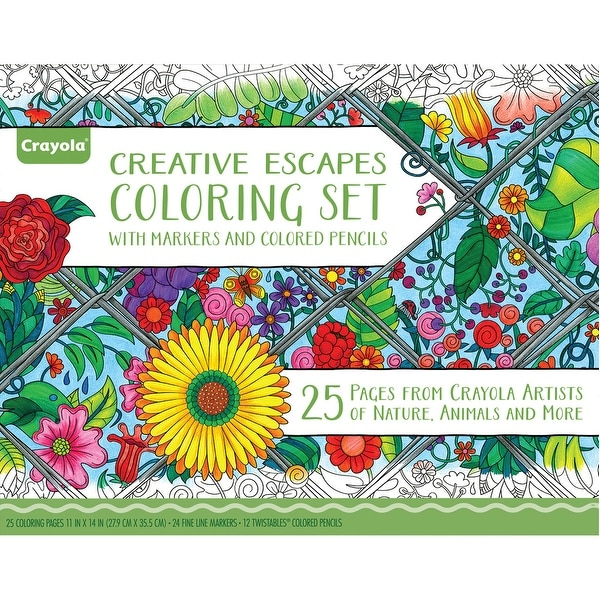 Crayola Coloring Set W/Markers & Colored Pencils-