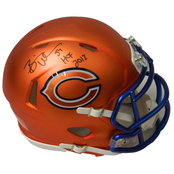 07ab9fac40f Brian Urlacher Chicago Bears Blaze Riddell Speed Mini Helmet wHOF 2018