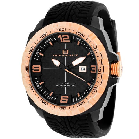 Oceanaut Men's Racer Black Dial Watch - OC1111