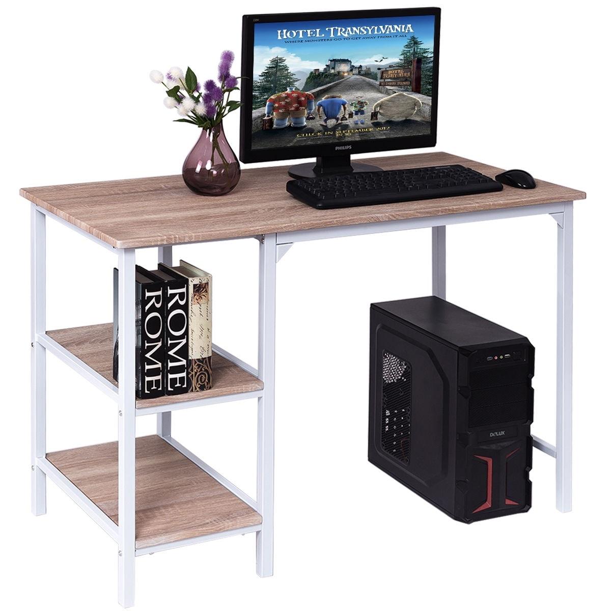 Computer Desk PC Laptop Table Study Workstation Home Office Furniture w//Shelf