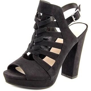 Bar III Nerisa Women  Open Toe Synthetic Black Platform Sandal