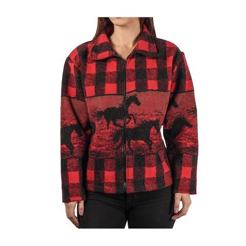 Black Mountain Faux-Wool Blanket Jacket