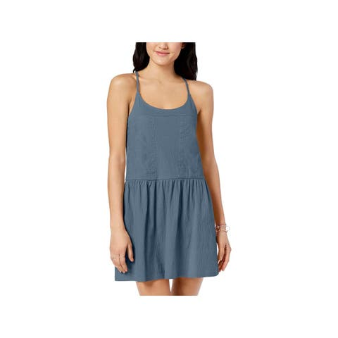 Roxy Womens Juniors La Pointe Beaches Tank Dress Drop Waist Mini