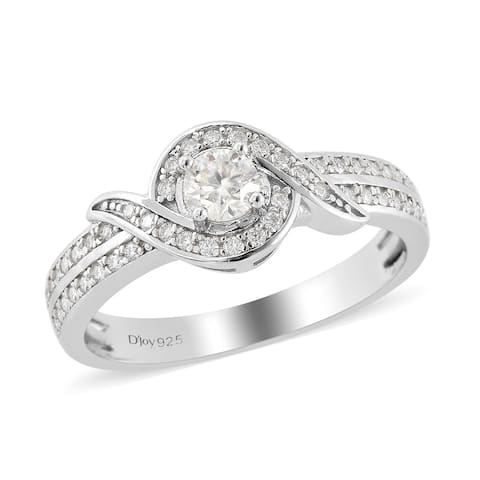 Shop LC Jewelry Gifts For Her 925 Sterling Silver Round Moissanite